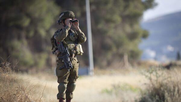 Izraelski żołnierz na posterunku - Sputnik Polska