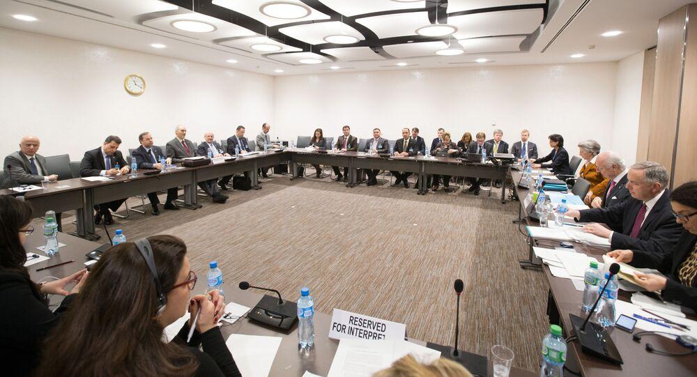 Pertraktacje w Genewie w sprawie Syrii. Zdjęcie archiwalne