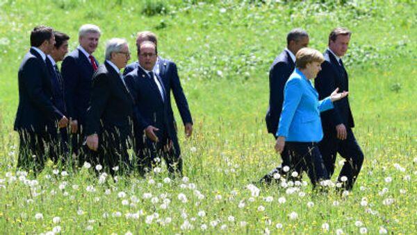 Kraje G7 spacerują przed szczytem - Sputnik Polska