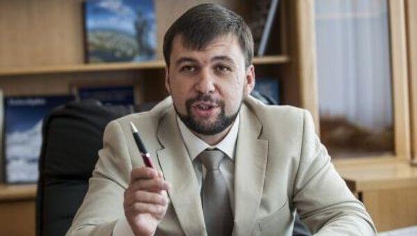Przedstawiciel DRL na mińskich rozmowach Denis Puszylin - Sputnik Polska