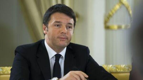 Premier Włoch Matteo Renzi - Sputnik Polska