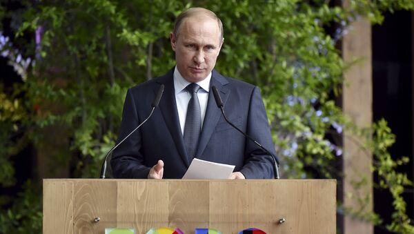 Prezydent Rosji Władimir Putin w Mediolanie na światowej wystawie EXPO - Sputnik Polska