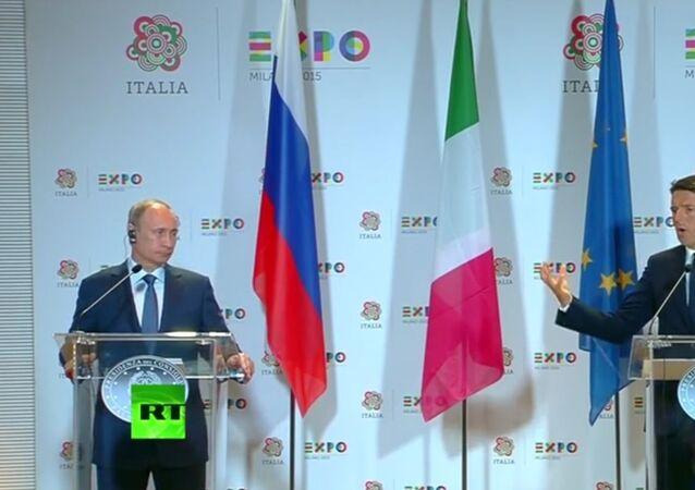 Konferencja prasowa Wadimira Putina i Matteo Renzi