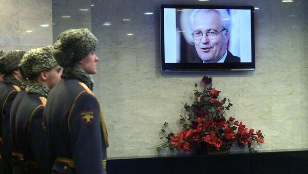 Uroczystość pożegnalna zmarłego Witalija Czurkina, stałego przedstawiciela Rosji przy ONZ - Sputnik Polska