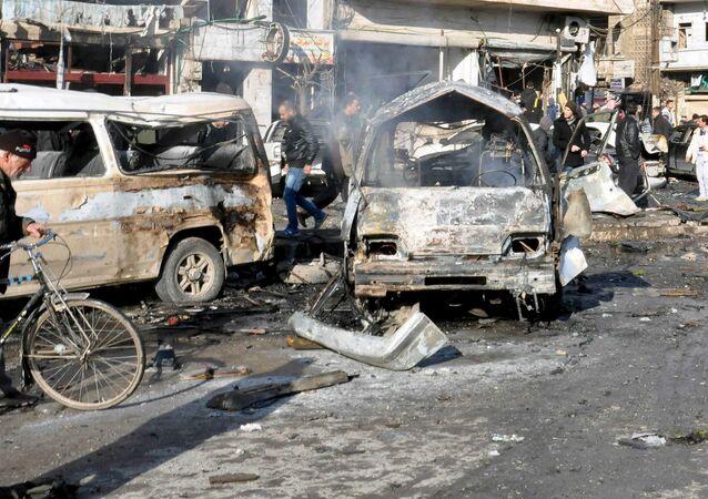 Zamach terrorystyczny w syryjskim Homs