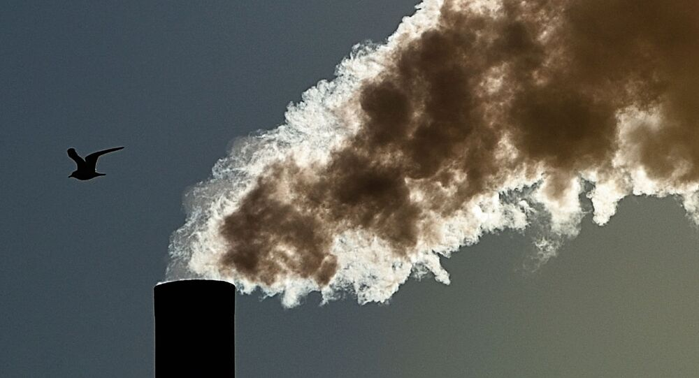 Dym z fabrycznego komina