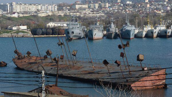 Okręty w zatoce Sewastopola - Sputnik Polska
