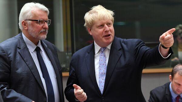 Szefowie MSZ Polski i Wielkiej Brytanii Witold Waszczykowski i Boris Johnson w Brukseli - Sputnik Polska