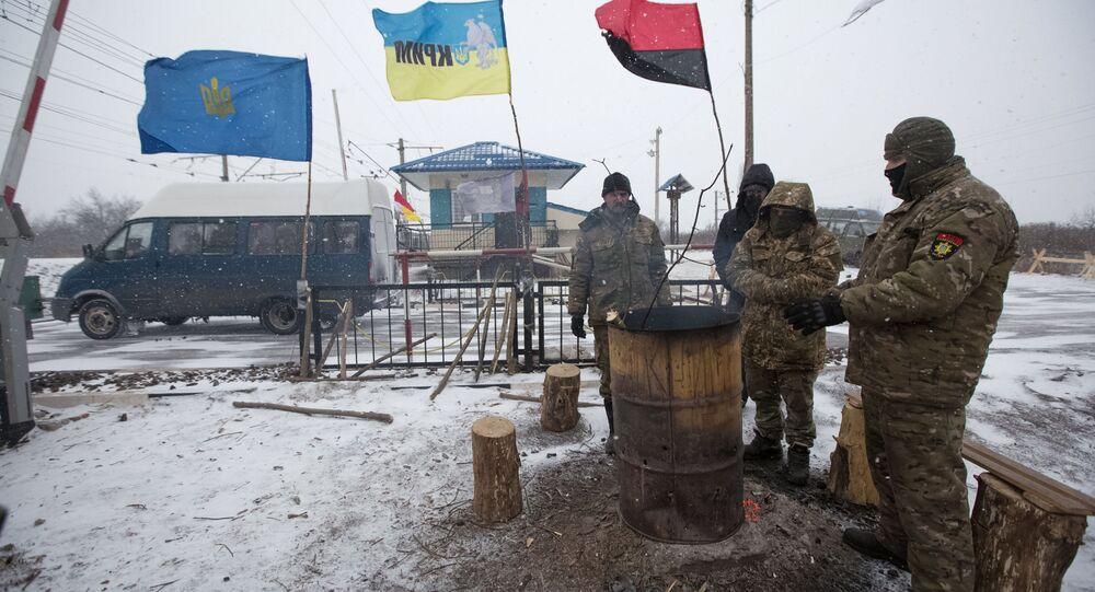 Uczestnicy blokady handlowej Donbasu, 14 lutego 2017