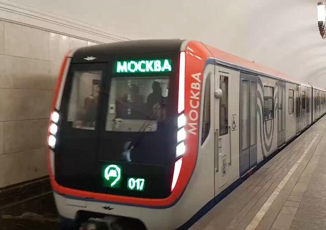 """Pierwszy pociąg metra """"Moskwa"""""""