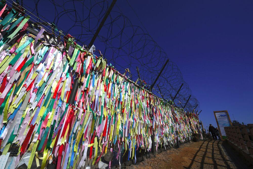 Punkt kontrolno-prejściowy oddzielający dwie Korei w Paju
