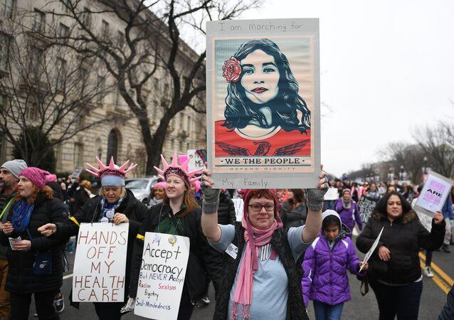 Marsz kobiet w Waszyngtonie