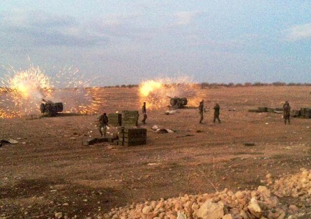 Syryjska armia na północy prowincji Hama