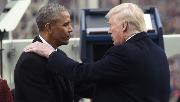Barack Obama i Donald Trump - Sputnik Polska