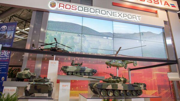 Międzynarodowa wystawa zbrojeniowa EUROSATORY w Paryżu, stoisko Rosoboroneksportu - Sputnik Polska