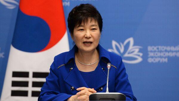 Trybunał Konstytucyjny Korei Południowej w piątek postanowił o utrzymaniu w mocy decyzji o impeachmencie prezydent Park Geun Hie - Sputnik Polska
