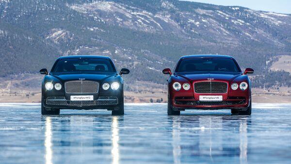 Bentleye na zamarzniętym Bajkale - Sputnik Polska