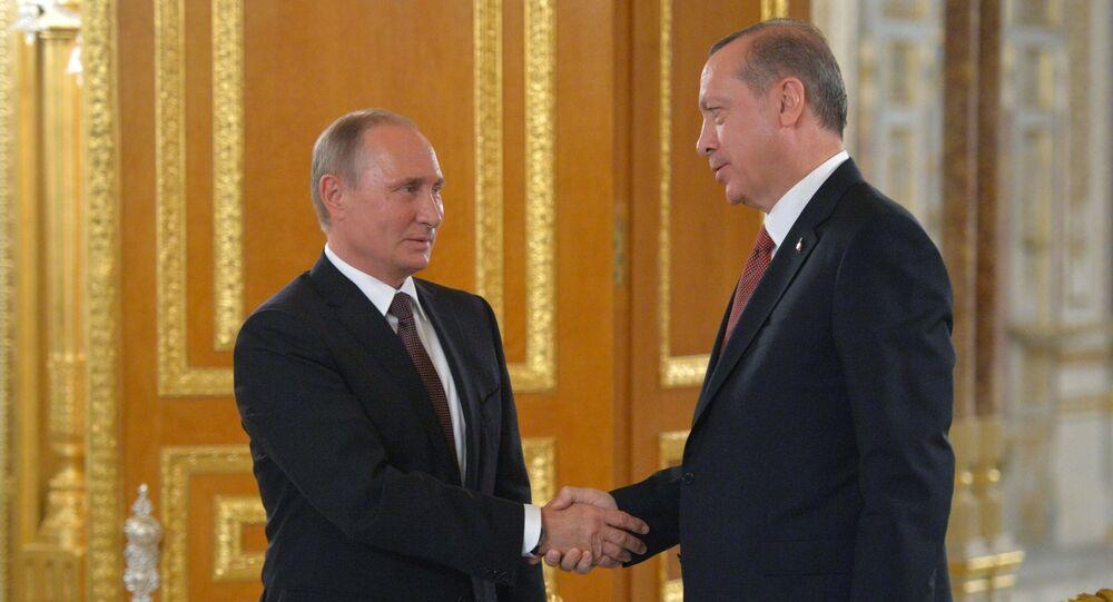 Prezydent Rosji Władimir Putin i prezydent Turcji Recep Tayyip Erdogan