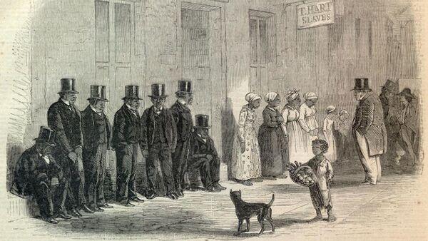 Rysunek Niewolnicy na sprzedaż, 1861 rok - Sputnik Polska