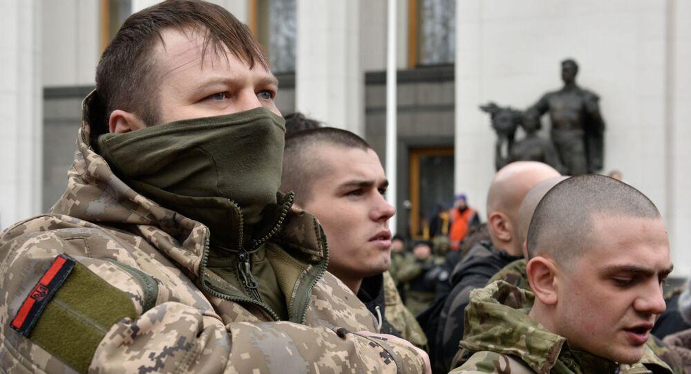Koleje Ukraińskie (Ukrzaliznycia) poinformowały o kradzieży ładunku z zajętego przez radykałów pociągu w obwodzie donieckim