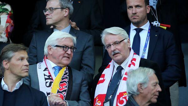 Mecz Polska-Niemcy, Euro 2016. Witold Waszczykowski i Frank Walter-Steinmeier - Sputnik Polska