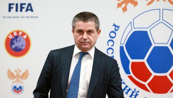 Przewodniczący Komitetu Rosyjskiego Związku Piłki Nożnej ds. bezpieczeństwa i współpracy z fanami Władimir Markin - Sputnik Polska