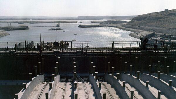 Zapora na rzece Eufrat w Syrii - Sputnik Polska