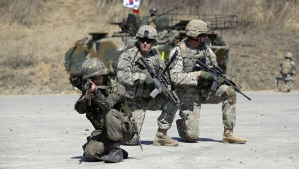 Waszyngton nie wyklucza użycia wojska przeciwko KRLD, jeśli będzie ona zagrażać Korei Południowej i stacjonującym tam amerykańskim żołnierzom - Sputnik Polska