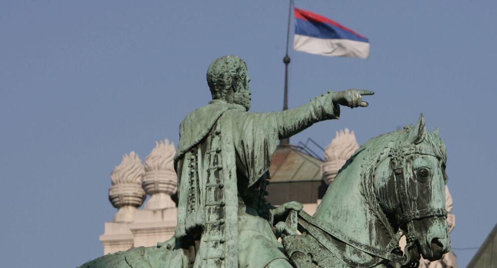 Pomnik księcia Michała Obrenowića na Placu Republiki w Belgradzie