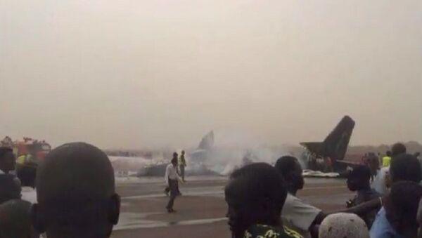 Katastrofa samolotu na lotnisku w Wau - Sputnik Polska
