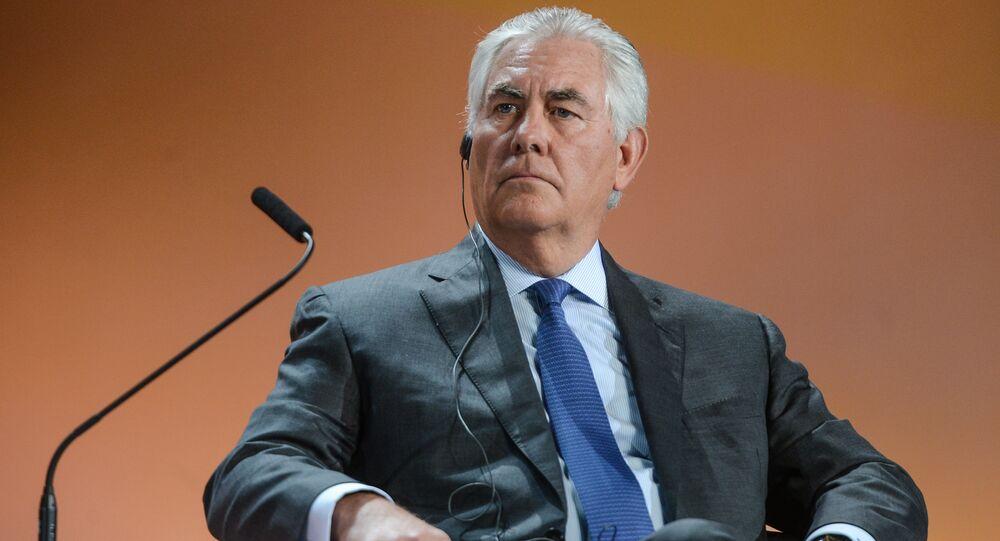 Przewodniczący rady dyrektorów ExxonMobil  Rex Tillerson na XXI Światowym Kongresie Naftowym w Moskwie
