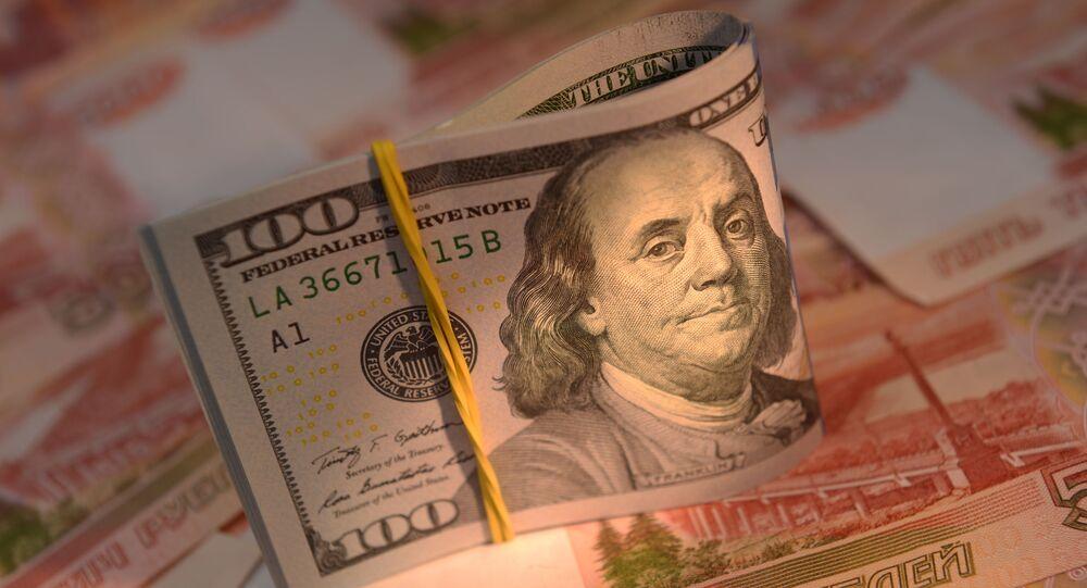 Banknoty Rosji i USA