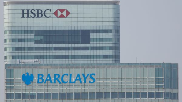 Budynki banków HSBC i Barclays w Londynie - Sputnik Polska