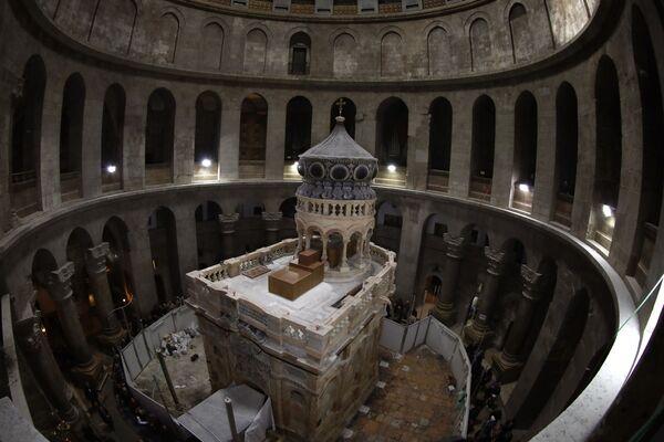 Świątynia zostanie oficjalnie otwarta 22 marca, poświęci ją patriarcha Konstantynopola Bartłomiej i patriarcha Jerozolimski Teofil. - Sputnik Polska