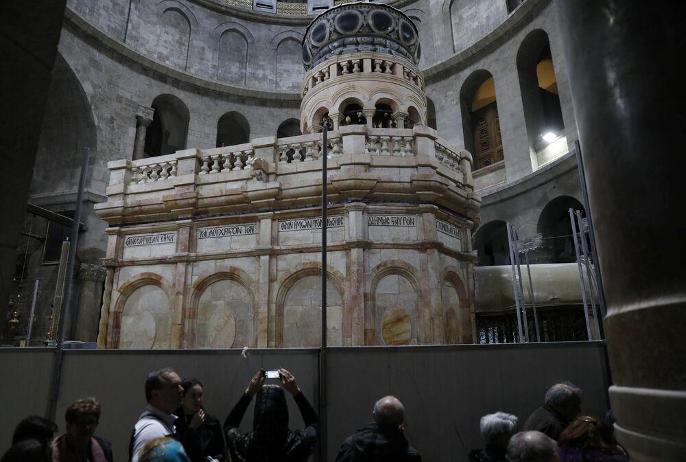 Świątynia jest objęta opieką Kościoła Jerozolimskiego, Ormiańskiego i Rzymskokatolickiego, które udzieliły zgody na pierwszą w jej historii konserwację.