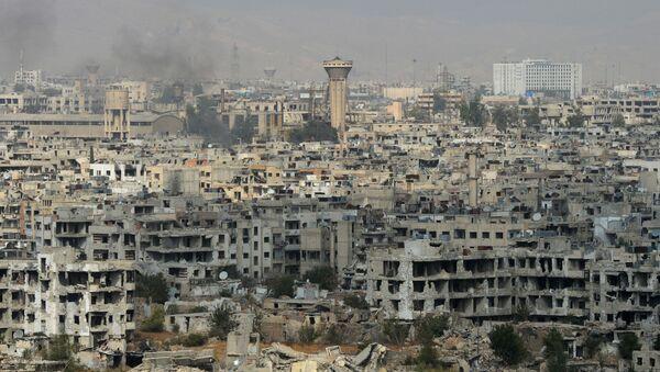 Sytuacja w Damaszku rejonie Dżobar - Sputnik Polska