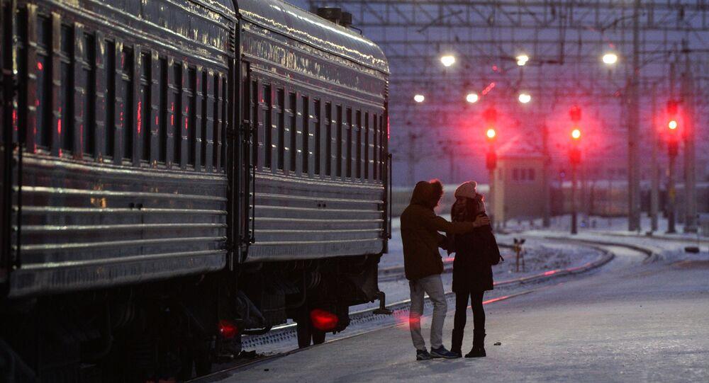 """Dziennikarka """"The Sunday Times Magazine"""" Katie Glass wyruszyła z Moskwy do Pekinu pociągiem."""