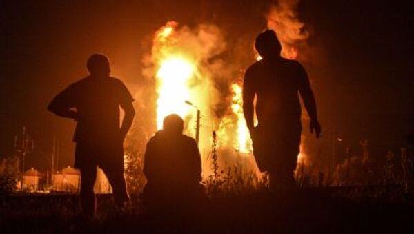 Kolejny pożar na bazie paliwowej pod Kijowem - Sputnik Polska