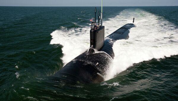 Amerykański okręt podwodny z napędem jądrowym typu Virginia USS California - Sputnik Polska