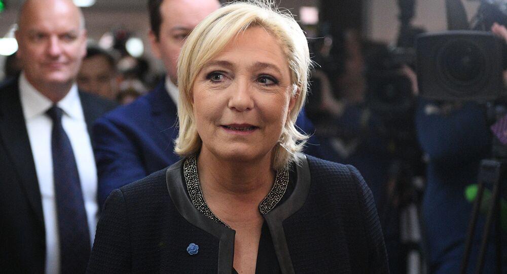 Kandydatka na urząd prezydenta Francji Marine Le Pen w czasie wizyty w Dumie Państwowej
