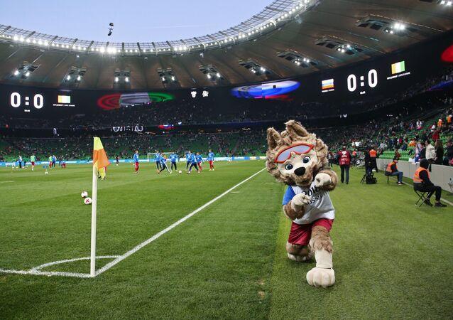 Mecz Rosja – Wybrzeże Kości Słoniowej na stadionie w Krasnodarze