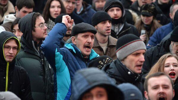 MSW Białorusi potwierdziło informacje o zatrzymaniach uczestników nielegalnej akcji opozycji w centrum Mińska - Sputnik Polska