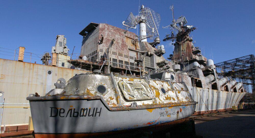 Niedokończony krążownik Ukraina już od 32 lat stoi w dokach Stoczni im. 61 Komunardów w Mikołajowie