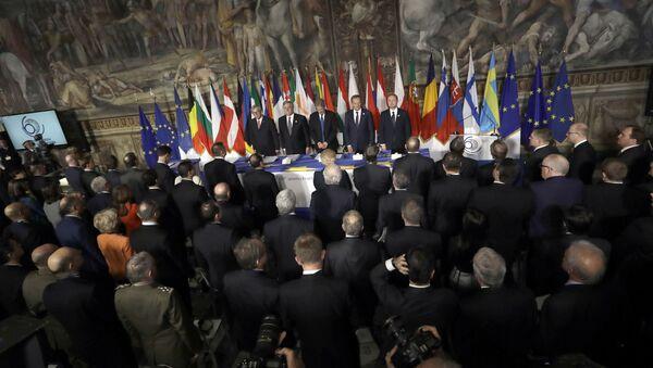 Jubileuszowy szczyt UE w Rzymie poświęcony 60. rocznicy podpisania Traktatów Rzymskich - Sputnik Polska