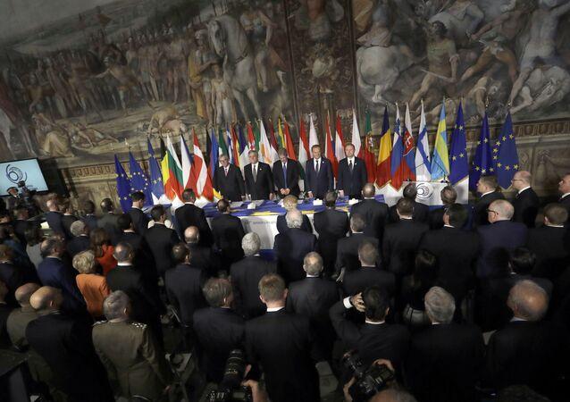 Jubileuszowy szczyt UE w Rzymie poświęcony 60. rocznicy podpisania Traktatów Rzymskich