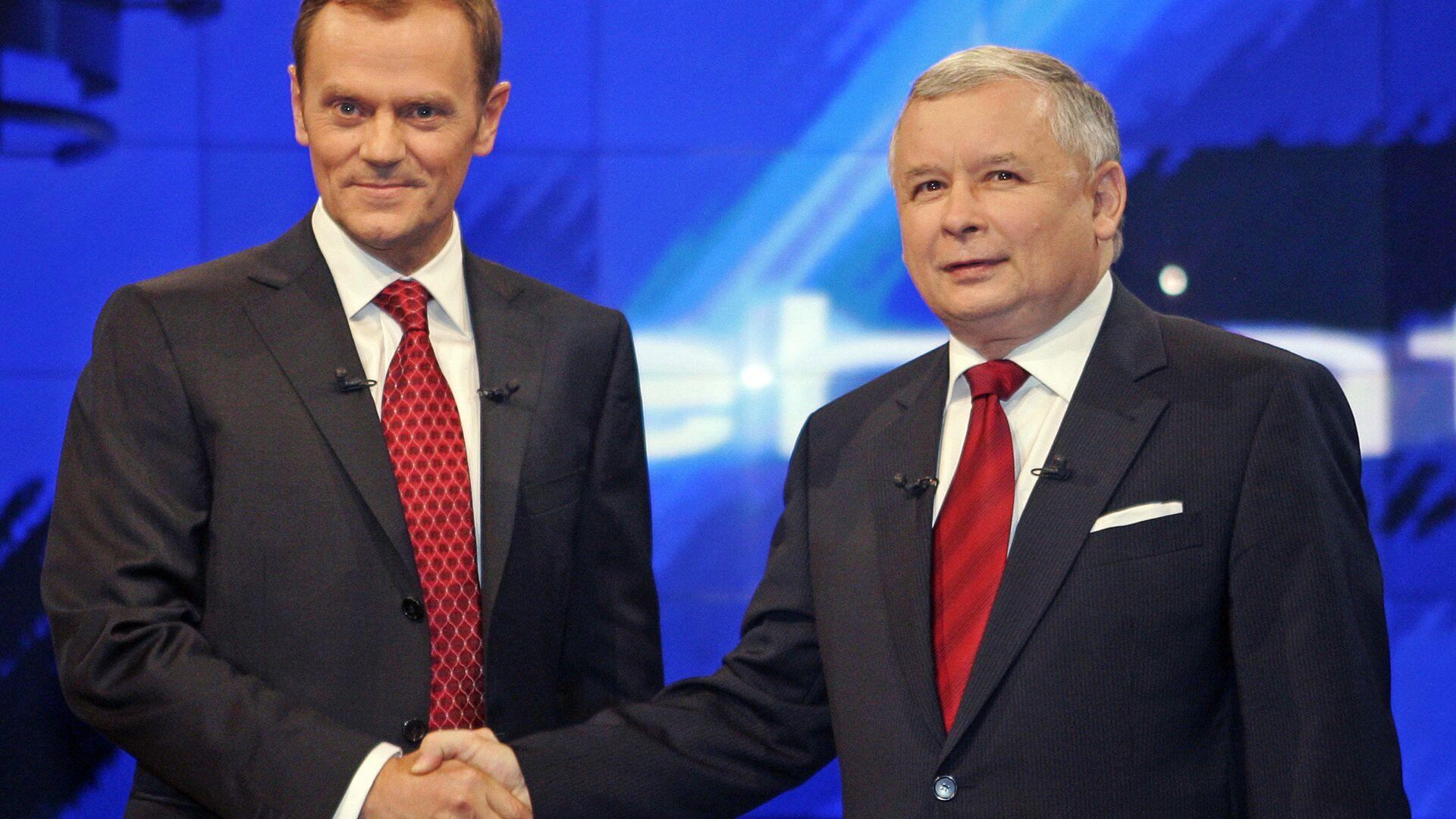 Donald Tusk i Jarosław Kaczyński - Sputnik Polska, 1920, 09.07.2021