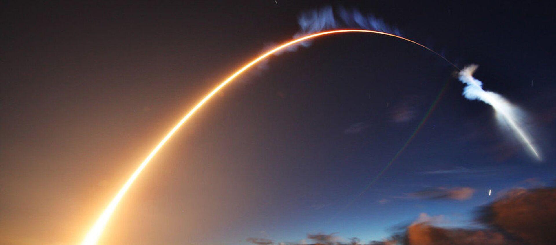 Wystrzelenie rakiety Atlas V z satelitą amerykańskich sił zbrojnych z przylądka Canaveral na Florydzie - Sputnik Polska, 1920, 15.04.2018