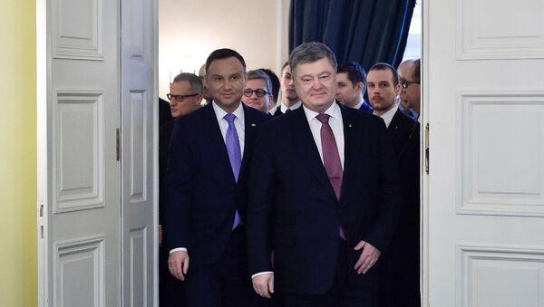 Andrzej Duda i Petro Poroszenko - Sputnik Polska