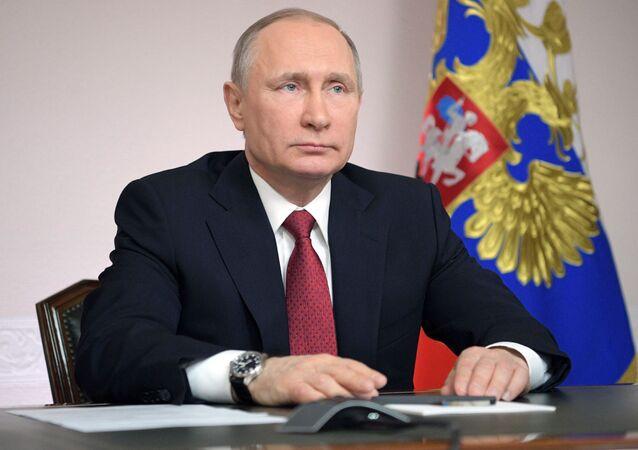 Władimir Putin w Archangielsku