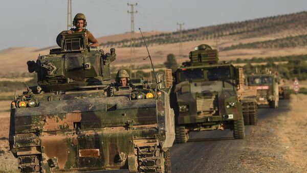 Tureccy wojskowi na granicy turecko-syryjskiej - Sputnik Polska